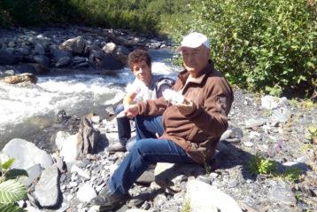 Отец и племянник Анны в Сванетии