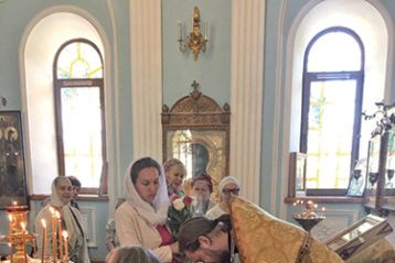 Семья Бандиных в храме в честь иконы Божьей Матери  «Всех скорбящих Радость» (Нижний Новгород)