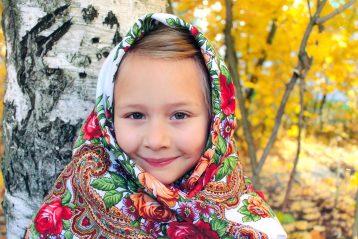 «Русская душа…». Автор Ева Медведева, 9 лет. III место