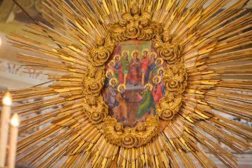 20 августа. Образ сошествия Святого Духа на апостолов в Воскресенском кафедральном соборе Арзамаса (фото Александра Чурбанова)