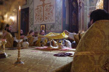 9 февраля. Во время Божественной литургии в Александро-Невском кафедральном соборе (фото Алексея Козориза)
