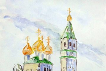 Троицкая церковь (акварель). Кирилл Антипов