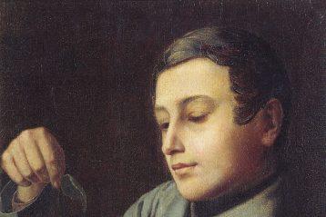 А. В. Ступин. Мальчик с листком. 1830-е — 1840-е