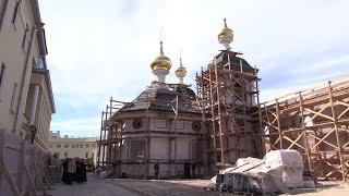 Летопись митрополии. Молебен перед началом росписи Никольского храма в Нижегородском кремле.
