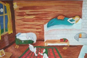 «Детство Матронушки» Автор: Артем Кощеев, 7 лет. I место