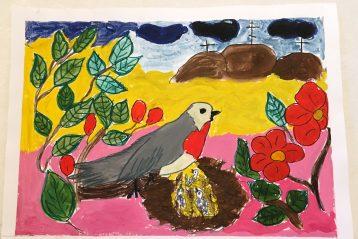«Красношейка». Автор: Елизавета Платонова, 6 лет. I место