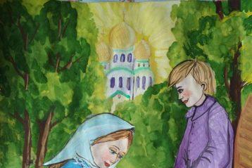 «Дорога к храму». Автор: Ксения Важдаева, 8 лет. II место