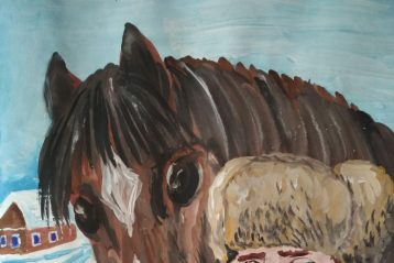 «Теплый хлеб». Автор: Тимофей Фотин, 11 лет. II место