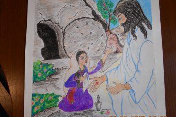 «Иисус Христос предстаёт перед Марией Магдалиной». Автор: Алина Вискова, 13 лет. II место