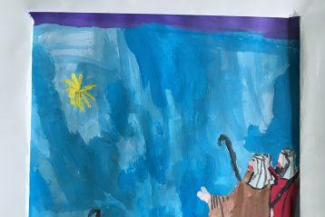 «Поклонение волхвов». Автор: Даниил Чернышов, 7 лет. II место