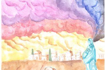 «Гибель Содома и Гоморры». Автор: Андрей Дубнев, 11 лет. III место