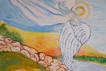 «Господь же не спит и ангелы не спят». Автор: Маша Базанова, 9 лет. III место