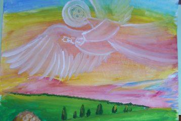«А на небе много ангелов» Автор: Катя Корытина, 13 лет. III место