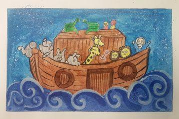 «Ноев ковчег». Автор: Ксения Ховпун, 8 лет. III место