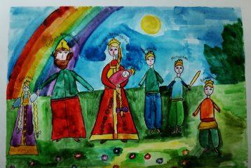 «Семья великого князя». Автор: Варвара Тихонова, 7 лет. III место