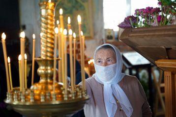 8 авгутса. В Троицком храме села Спирина (фото Виолетты Калашниковой)