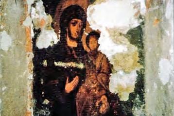 Чудотворная икона после расчистки, 1997 год