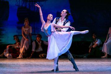 Фрагмент из балета «Корсар» в г. Чебоксары в рамках  Международного фестиваля балетного искусства, 2020г.