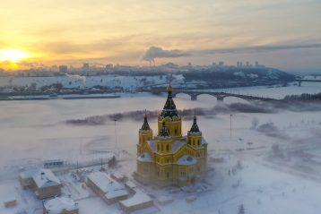 18 января. Александро-Невский кафедральный собор Нижнего Новгорода (фото Александра Фролова)