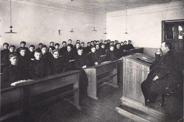 «Шестой класс на уроке», 1913 г.