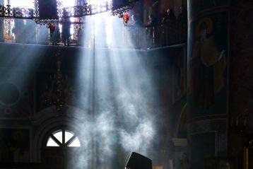 15 марта. Утреннее богослужение в Серафимо-Дивеевском монастыре (фото Александра Чурбанова)