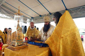 28 июля 2013 года. Божественная литургия в деревне Сартаково в день празднования 1025-летию Крещения Руси