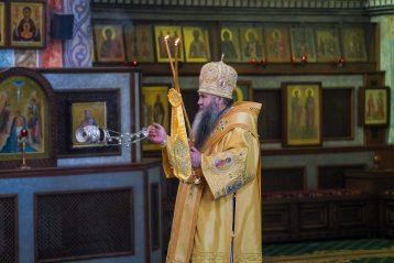 25 июля. Божественная литургия в Александро-Невском кафедральном соборе (фото Александра Чурбанова)