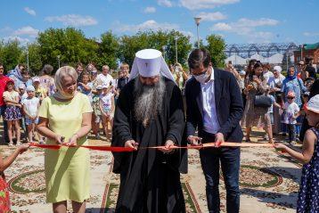 7 июля. Открытие детской площадки возле нижегородского Александро-Невского кафедрального собора (фото Александра Чурбанова)