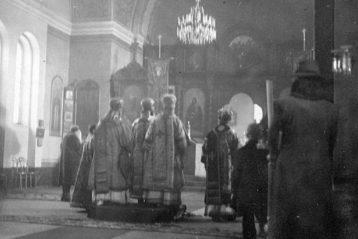 За богослужением в Туле в 1946 г.