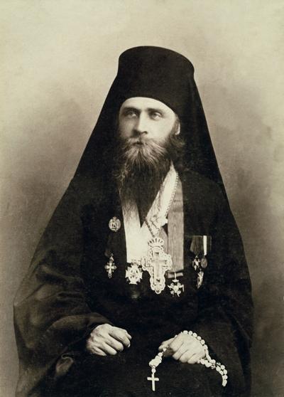 Архимандрит Лаврентий (Князев). Фото М.П. Дмитриева. 1917 г.