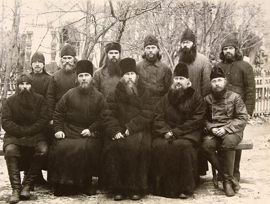 Архиепископ Евгений (Зернов), епископ Иларион (Троицкий), епископ Прокопий (Титов) и монашествующие в Соловецком лагере особого назначения