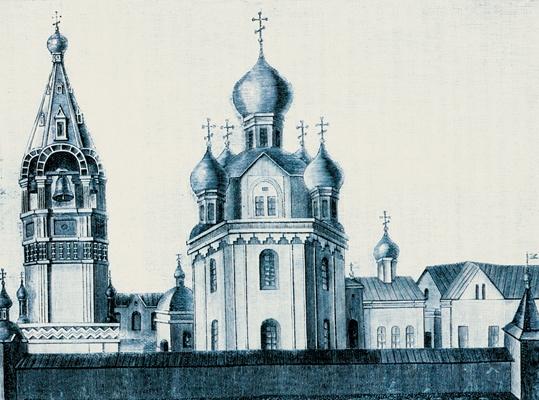 Старый Печерский монастырь (засыпанный горой в XVI веке)