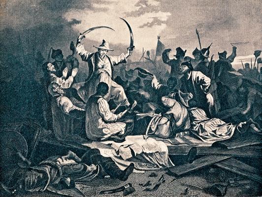 Татары, пирующие после битвы на реке Калке