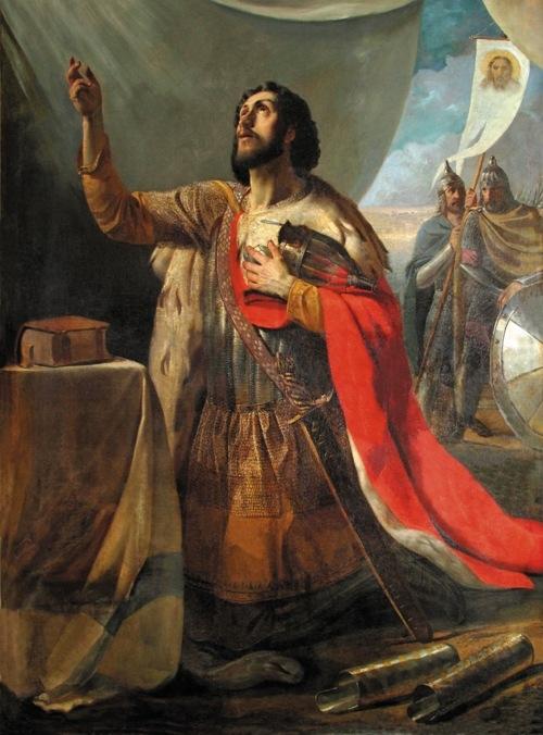 Моление князя Александра Ярославича  перед Невской битвой