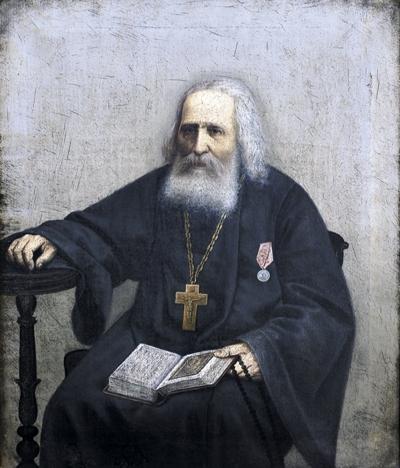 Портрет нач. XX века старца Варнавы (Меркулова). Иверский Выксунский монастырь