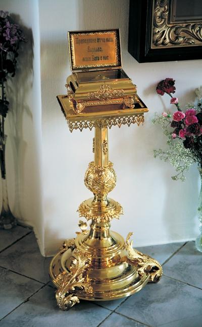 Рака с частицей мощей св. прп. Варнавы Гефсиманского в Иверском женском монастыре