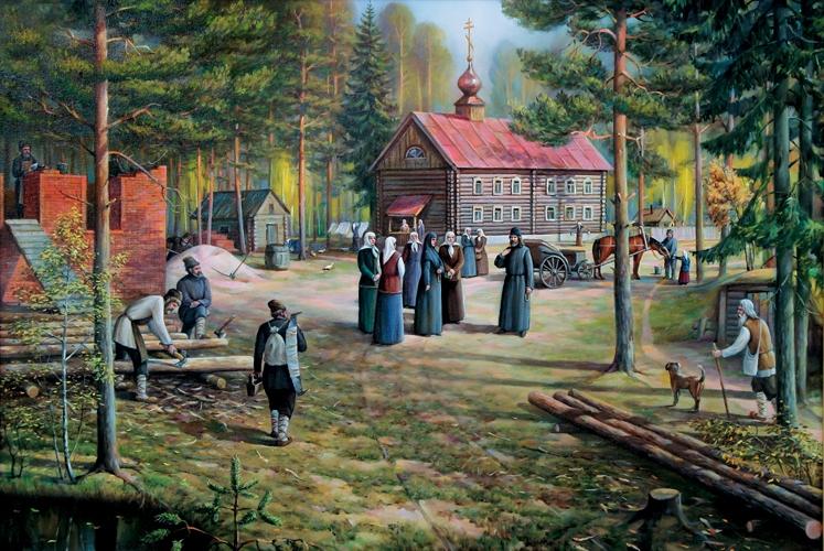 Основание Иверского Выксунского женского монастыря иеромонахом Варнавой