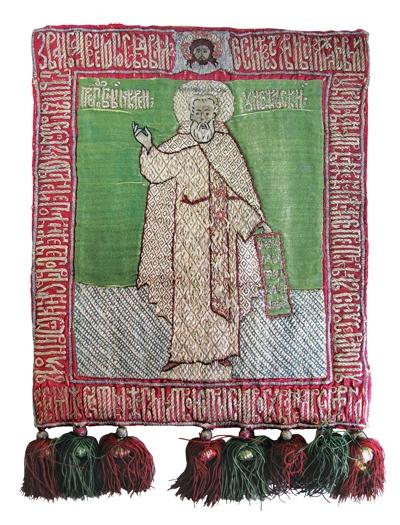 Пелена — св. прп. Макарий, Желтоводский и Унженский чудотворец. XVII в.