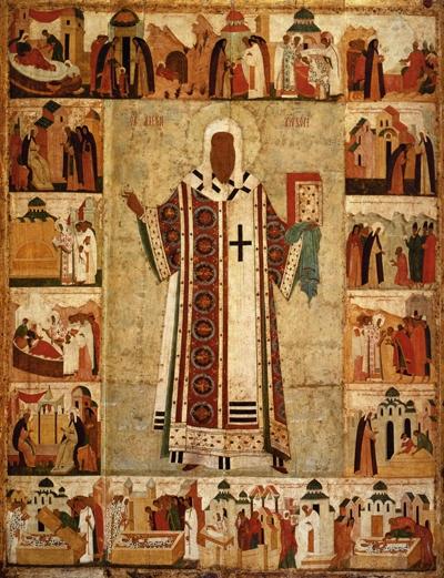 Святитель Алексий, митрополит Московский. Икона XVI века