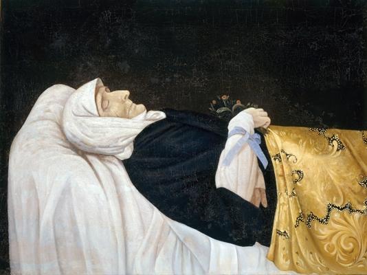 лаженная Пелагия Ивановна на смертном одре. Картина кон. XIX в. Свято-Троицкий Дивеевский монастырь