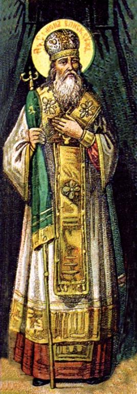 Святитель Симон, епископ Владимирский. Хромолитография нач. XX в.