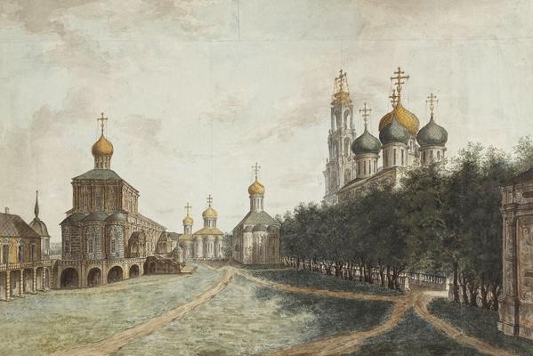 Троице-Сергиева Лавра. Литография кон. XIX в.