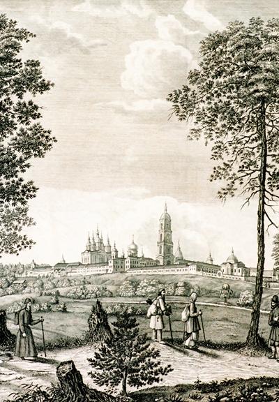 Вид Свято-Успенской Саровской пустыни. Гравюра конца XIX в.
