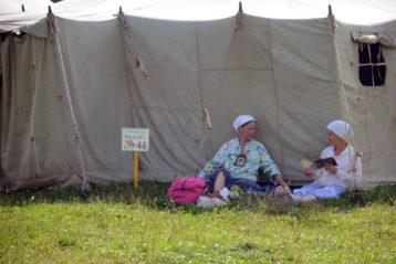 31 июля. В палаточном городке при Свято-Троицком Серафимо-Дивеевском монастыре (фото Никиты Целовальникова)