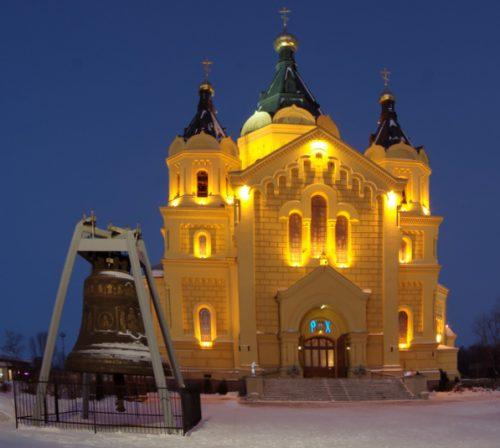 Александро-Невский собор с подсветкой
