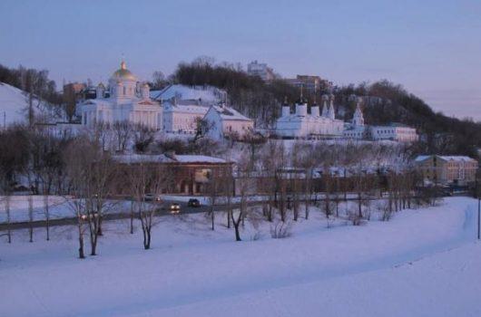 Благовещенский монастырь зимой