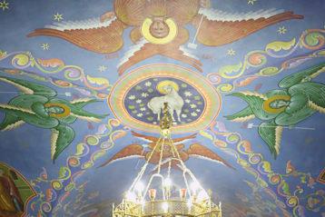 12 января. Божественная литургия в Вознесенском Печерском монастыре Нижнего Новгорода (фото Сергея Лотырева)