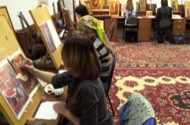 Иконописная мастерская в Никольском храме