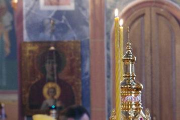 2 февраля. Божественная литургия в Троицком соборе Свято-Троицкого Серафимо-Дивеевского монастыря (фото Алексея Козориза)