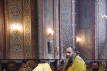 26 февраля. Божественная литургия в Александро-Невском кафедральном соборе (фото Алексея Козориза)
